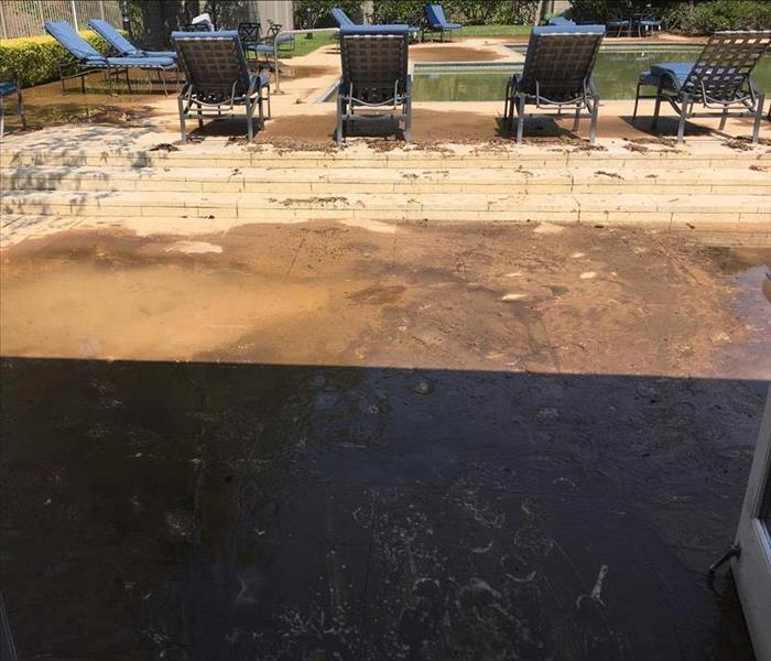 Poolside mudslide Before